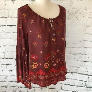 Urban Outfitters Kimchi Blue Boho Floral Top SZ M